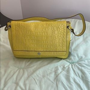 Handbags - Lodi's Handbag Yellow Leather